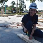 Martha volunteering at Wildwood Women Build site