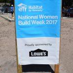 National Women Build Week 2017 banner