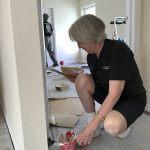 volunteer painting