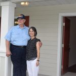 New homeowners in the Veterans Village