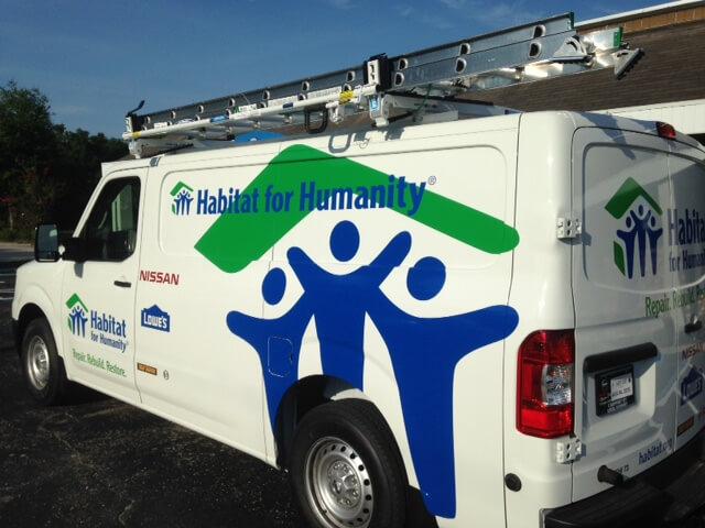 Habitat for Humanity van