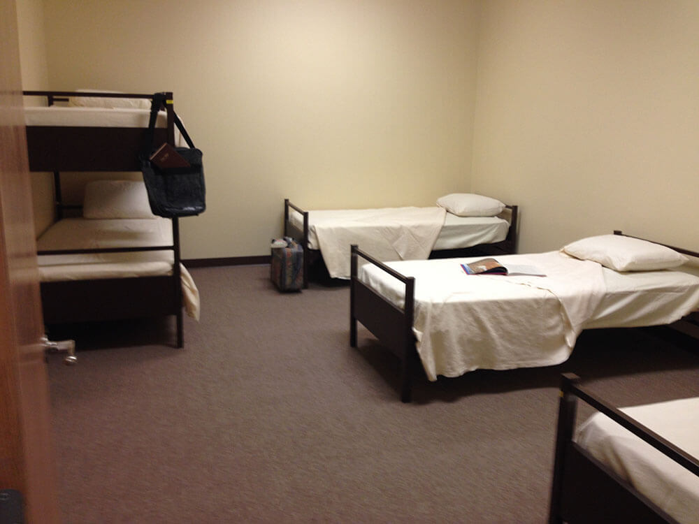 one of the bunk rooms inside the DGV