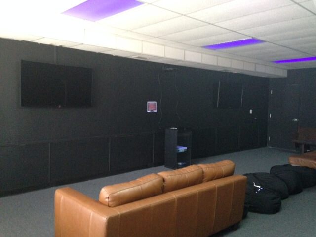 Media room at the DGV