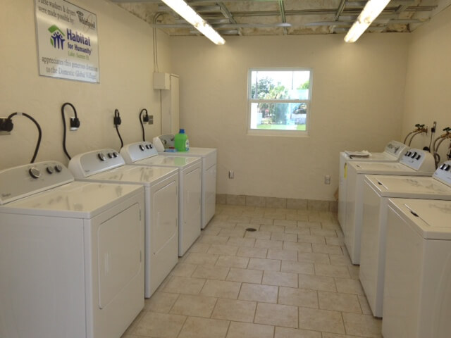Washer and dryers at the DGV