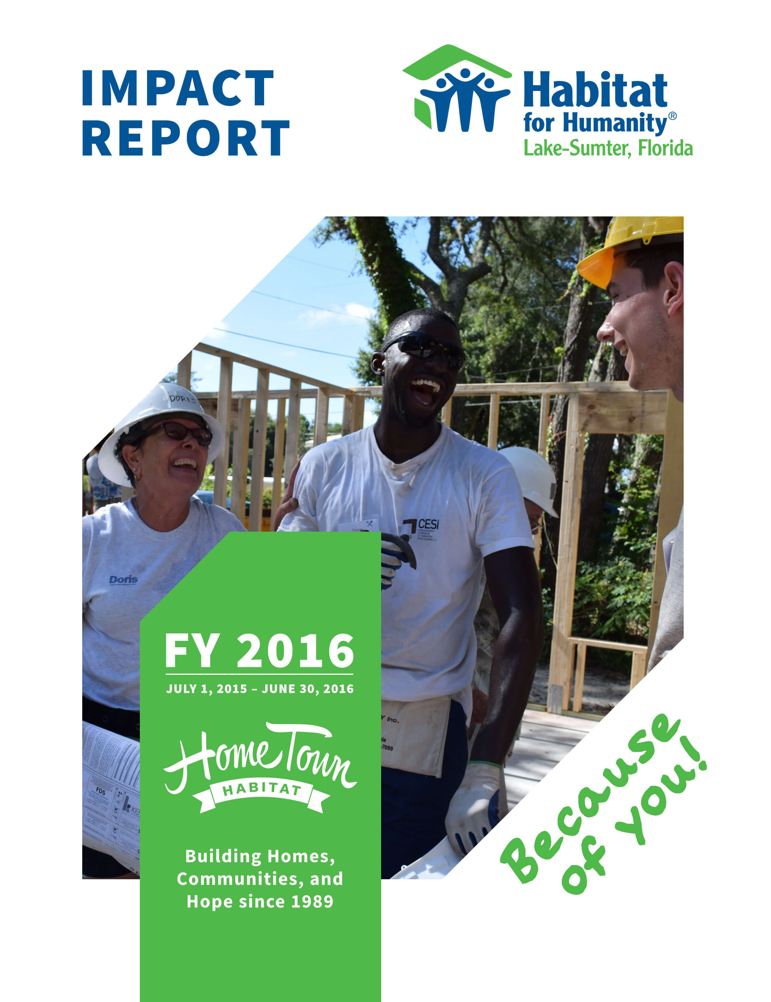 Impact Report Cover: 2015-2016