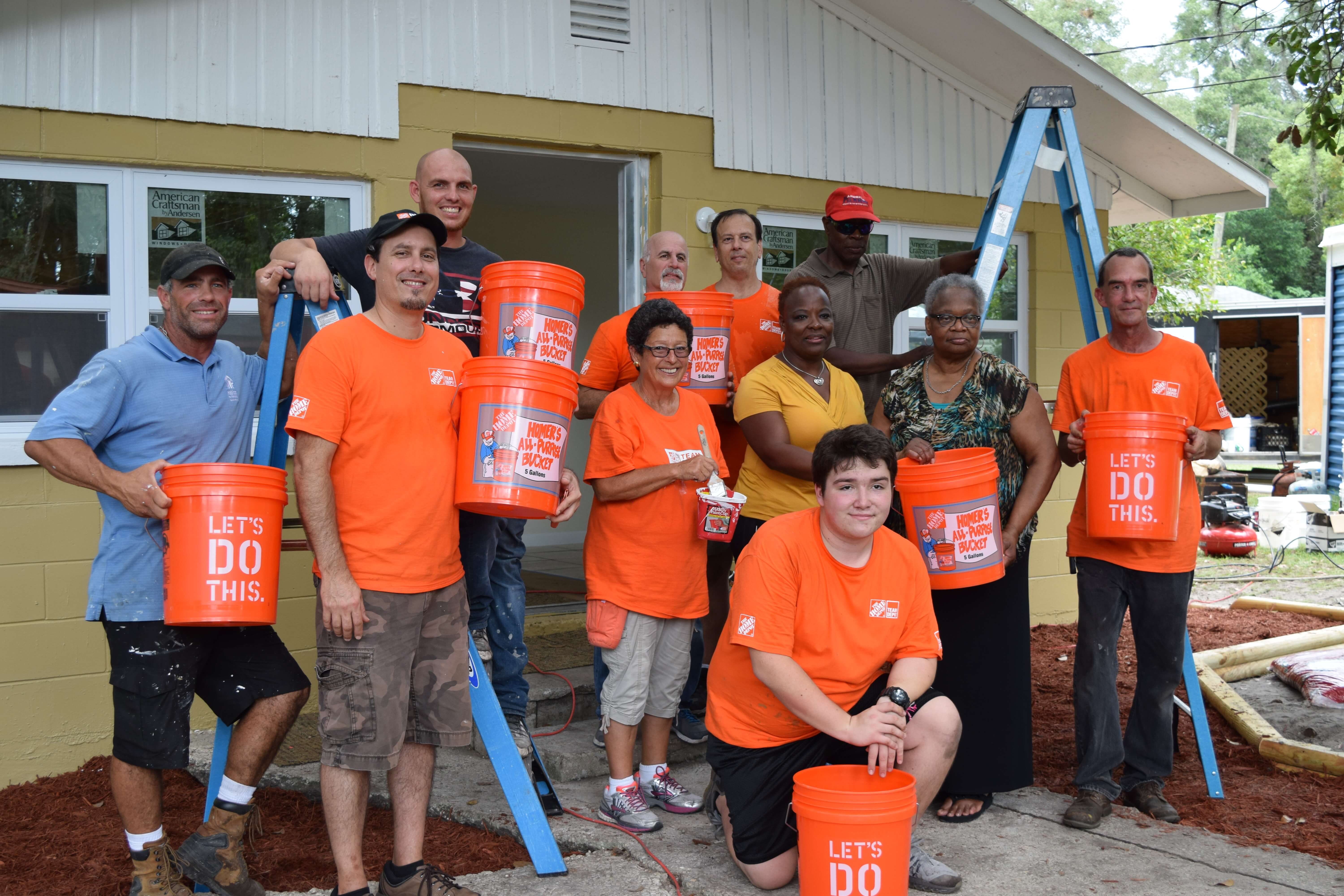 Team Depot with Davies Family