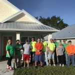 volunteer group at the Veterans Village
