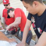 OSU volunteers at the Veterans Village