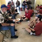 OSU volunteers at the Veterans Village having lunch with other volunteers