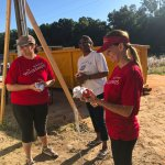 Wells Fargo volunteers with future homeowner