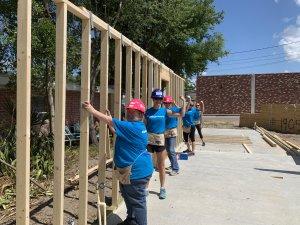 Women Build volunteers at the Eustis site