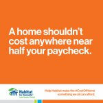 A home shouldn't cost anywhere near half your paycheck.
