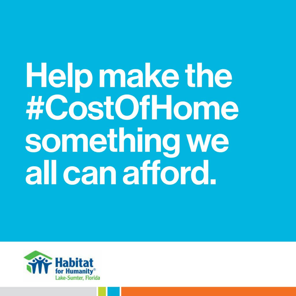 Help make the #CostOfHome something we all can afford.