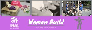 Women Build web page header
