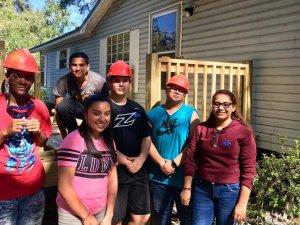 Leesburg High School Construction students