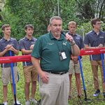 The Villages Charter School faculty speaking at the ground breaking