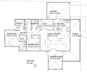 floor plan for Leesburg House
