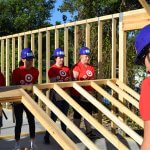 Eustis Site Women Build 2019 - Target Team Build wall raising