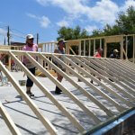 Eustis Site Women Build 2019 - wall raising
