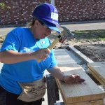 Eustis Site Women Build 2019 - hammering