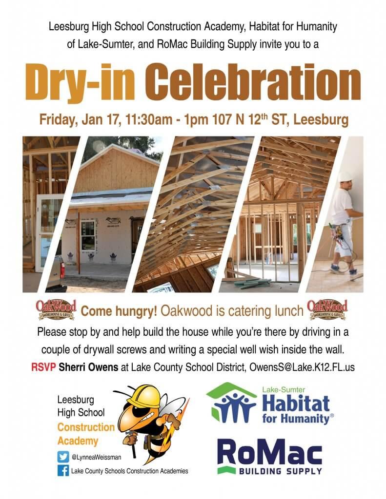 Leesburg High School Dry-in Celebration Invitation