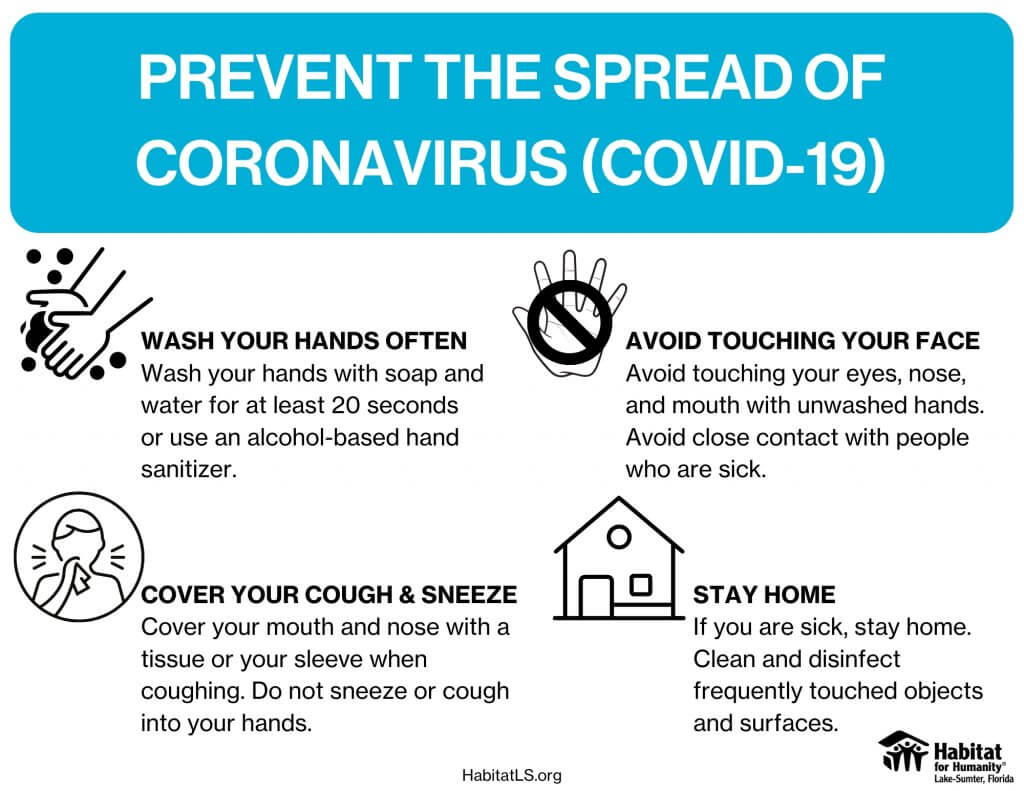 Prevent the Spread of Coronavirus (COVID-19)