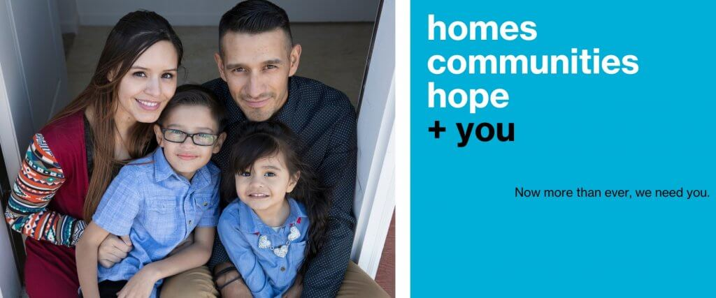 Giving Tuesday Now: Homes, communities, hope + you
