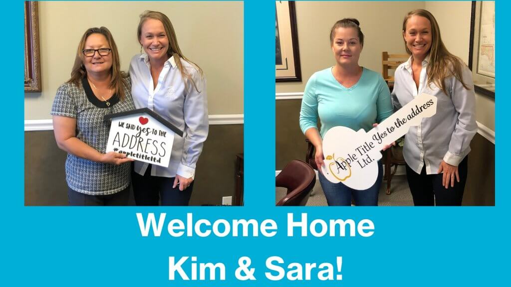 Welcome Home Kim & Sara!