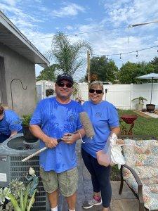 Rotarian volunteers