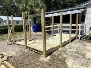 complete ramp by Women Build voluteers