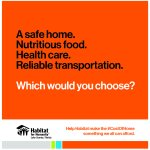 A safe home. Nutritious food. Health care. Reliable transportation. Which would you choose?