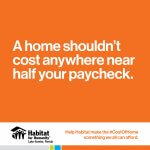 A home shouldn't cost anyway near half your paycheck.