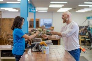 Kingston, Ontario, Canada (12/22/17) Cashier Male Shopper