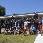 Leesburg High School students, last day working on project
