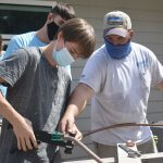 Leesburg High school students working together