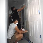 Leesburg High School students painting interior
