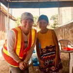 Danielle with local child on trip to Honduras